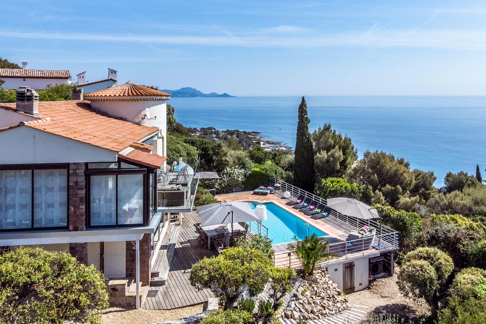 Villa met zwembad te huur Les Issambres - espritdusud